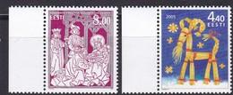 2005, EESTI, 535/36, Weihnachten. MNH ** - Estonia