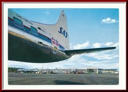 ★★  FORNEBU. OSLO LUFTHAVN Med FLY. STPL 1973 ★★ OSLO AIRPORT & AIRPALNE. FORNEBU. NORWAY ★★ - Norvège
