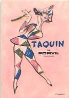 - Ref CH367- Parfumerie -carte Parfumée -8cms X 5,5cms -parfum Taquin De Forvil  -mini Calendrier 1962  - - Cartes Parfumées