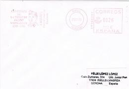 31213. Carta RIPOLL (Gerona) 2003. Franqueo Mecanico JACINT VERDAGUER - 1931-Hoy: 2ª República - ... Juan Carlos I