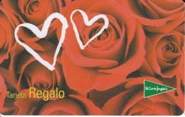 TARJETA DE REGALO DE EL CORTE INGLES ROSAS Y CORAZONES (GIFTCARD) CASTELLANO - Télécartes