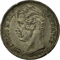 Monnaie, France, Charles X, 1/4 Franc, 1828, Paris, TTB+, Argent, Gadoury:353 - France