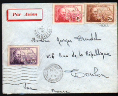 Enveloppe De Madagascar Pour Toulon, 1938 - Madagascar (1889-1960)