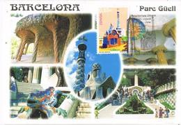 31214. Tarjeta Maxima BARCELONA 2001. PARC GUELL, Gaudi, Arquitectura Urbana - Tarjetas Máxima