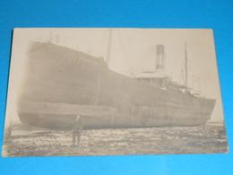 17 ) Lot 3 Carte Photo - échouge Du SWANBRIDGE Entre Saint-denis Et La Brée En Mars 1914 - Ile D'Oléron