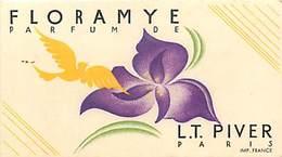 - Ref CH364- Parfumerie -carte Parfumée -9cms X 5cms -parfum Floramye - Lt Piver Paris - Carte Bon Etat - - Cartes Parfumées