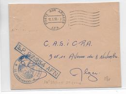 GUERRE D'ALGERIE - 1958 - ENVELOPPE FM De La 10° SECTION De COMA => ALGER - Marcophilie (Lettres)