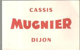 Buvard Cassis MUGNIER à Dijon - Liqueur & Bière