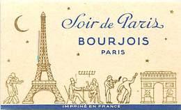 - Ref CH362- Parfumerie -carte Parfumée -8,5cms X 5cms -parfum Soir De Paris Bourjois  Paris - Carte Bon Etat - - Cartes Parfumées