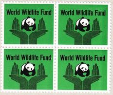 WWF  Aeltere Vignetten Im 4-er Block, Aus Courvoisier Archiv - Werbung