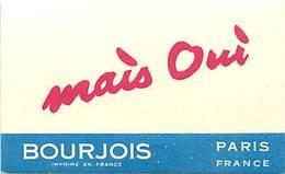 - Ref CH361- Parfumerie -carte Parfumée -8,5cms X 5cms -parfum Mais Oui - De Bourjois Paris  - Carte Bon Etat - - Cartes Parfumées