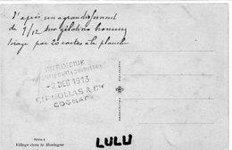 DEPT 16 : Commande Pour L Imprimerie Collas A Cognac - Cognac