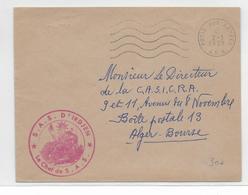 GUERRE D'ALGERIE - 1959 - ENVELOPPE FM Du CHEF De SAS De IRDJEN => ALGER - Marcophilie (Lettres)