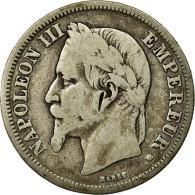 Monnaie, France, Napoleon III, Napoléon III, 2 Francs, 1868, Strasbourg, B+ - France