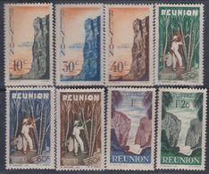 Réunion N° 262 / 69 X Partie De Série Courante, Les 8 Valeurs Trace De Charnière Sinon TB - Réunion (1852-1975)