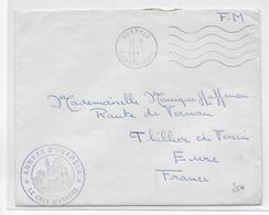 GUERRE D'ALGERIE - 1957 - ENVELOPPE FM De L'ANNEXE D'OUARGLA (CONSTANTINE) - Marcophilie (Lettres)