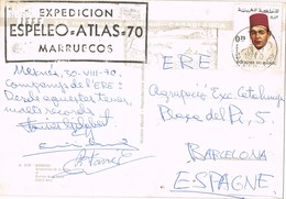 31215. Postal MEKNES (Marruecos) 1970. Fechador TANGER. Expedicion ESPELEO ATLAS 70 - Marruecos (1956-...)