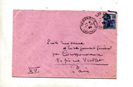 Lettre Cachet Besançon Sur Jeanne D'arc + Muette Paris Sur Vignette Tuberculose - Marcofilia (sobres)