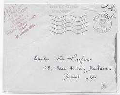 GUERRE D'ALGERIE - 1960 - ENVELOPPE FM De L'HOPITAL MILITAIRE PERCY D'un PARACHUTISTE RAPATRIE SANITAIRE - Marcophilie (Lettres)
