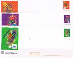 PAP  3 Enveloppes Coupe Du Monde De Football 1998 Y Et T N°3010/3012/3013 - Postwaardestukken