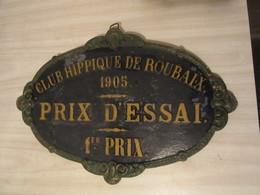 Plaque En Fonte - Concours Hippique. 1905 - Equitation