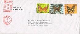 31218. Carta Aerea LAHORE (Pakistan) 1983 To USA. Papillon, Mariposas - Pakistán