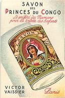 - Ref CH355- Parfumerie -carte Parfumée -8cms X 5cms -savon Des Princes Du Congo -victor Vaissier Paris - - Cartes Parfumées