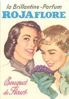 - Ref CH354- Parfumerie -carte Parfumée -9cms X 6cms -la Brillantine Parfum Rojaflore - Bouquet De Fleurs - - Oud (tot 1960)