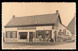 AVELGEM   CAFE ,, DE MEERSCHBLOEM BIJ L.VAN NESTE - ROOSBROECK - CELTA MEIRESONNE - FOTOKAART - Avelgem