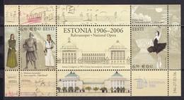Estland 2006, 546/47 Block 25, 100 Jahre Nationaltheater Estonia. MNH ** - Estonia