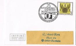 31219. Carta DORNBIRN (Austria) 1986. Internationale Chemiefaser. QUIMICA - 1945-.... 2ª República
