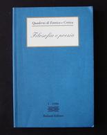 QUADERNI DI ESTETICA E CRITICA FILOSOFIA E POESIA 1 1996 BULZONI EDITORE - Libri, Riviste, Fumetti