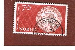 NORVEGIA  (NORWAY)    SG 661  -   1971 1100^ ANNIVERSARY OF TONSBERG   -   USED ° - Norvegia