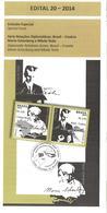 Brasilien 2014 Postankündigung Brasilien - Kroatien Mario Schenberg Nikola Tesla Elektrotechnik - Covers & Documents