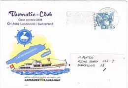 31220. Carta LAUSANNE (Suisse) 1978. Lemanex 78. Ship Ville De Neuchatel - Suiza