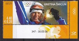 Estland 2006, 548, Goldmedaillengewinne Bei Den Olympischen Winterspielen, Turin. MNH ** - Estonia