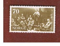 NORVEGIA  (NORWAY)    SG 668  -   1971 H.N. HAUGE, CHURCH REFORMER -   USED ° - Norvegia