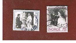 NORVEGIA  (NORWAY)    SG 673.674  -   1971 NORWEGIAN FOLK TALES  -   USED ° - Norvegia