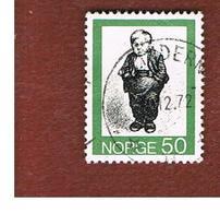 NORVEGIA  (NORWAY)    SG 693  -   1972 NORWEGIAN FOLK TALES: THE LITTLE BOY  -   USED ° - Norvegia