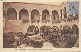 Tunisie - Djerba (Ile ): Courintérieure Dans Une Maison Arabe - Tunisie