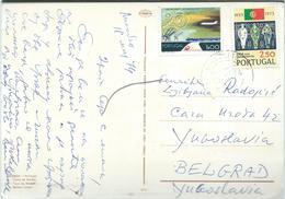 Portugal Postcard Via Yugoslavia 1974.nice Stamps - Covers & Documents