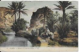 Tunisie - Gabès : Rivière Et Rocher De Schelia - Tunisie