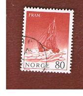 "NORVEGIA  (NORWAY)    SG 691  -   1972 POLAR SHIP ""FRAM""     -   USED ° - Norvegia"
