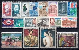 1571-1608 Frankreich Jahrgang 1967 Komplett, Postfrisch - Frankreich