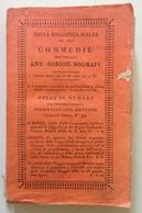 A Simone Sografi Commedie Per Giovanni Silvestri Milano 1831 - Libri, Riviste, Fumetti