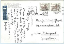 Portugal Postcard Via Yugoslavia 1976.nice Stamps.Postcard - Monument To The Discoveries - Covers & Documents