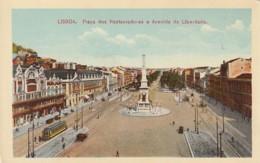 ***  LISBAO  ***    LISBOA  Praça Dos Restauradors E Avenida Da Libertade - Unused TTB - Lisboa