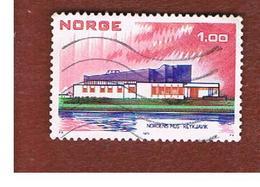 NORVEGIA  (NORWAY)    SG 700  -   1973  NORDEN: NORDIC HOUSE, REYKJAVIK    -   USED ° - Norvegia