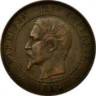 Monnaie, France, 10 Centimes, 1854, Lille, TTB, Bronze, Gadoury:251, KM:M25 - France
