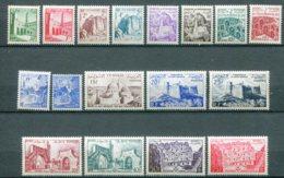 10831  TUNISIE  N°366/82 **  Sites    1954  TTB - Tunisia (1888-1955)
